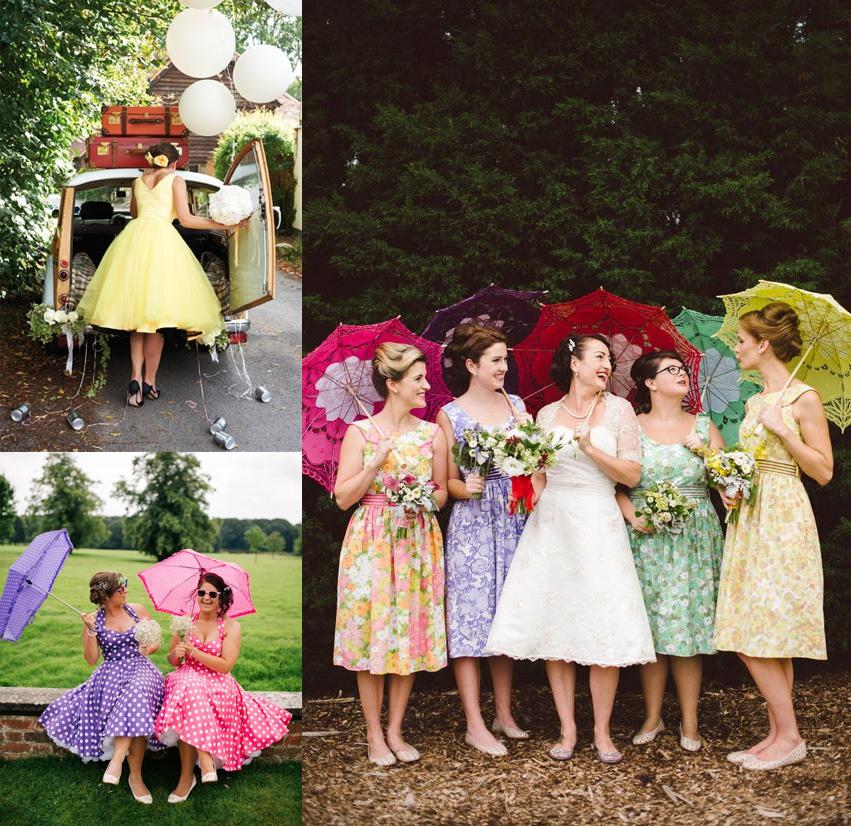 Rock My Vintage Blog Wedding Wednesday 1950s Bridesmaids