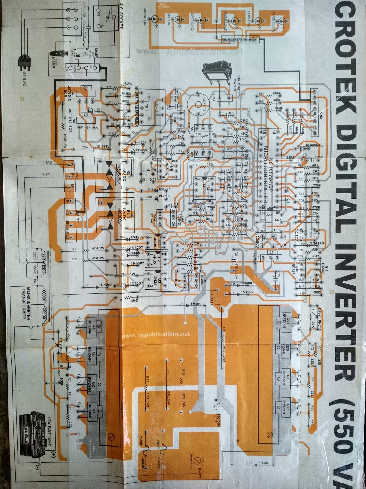 Pure Sinewave inverter diagram: 11105 ic china tv diagram