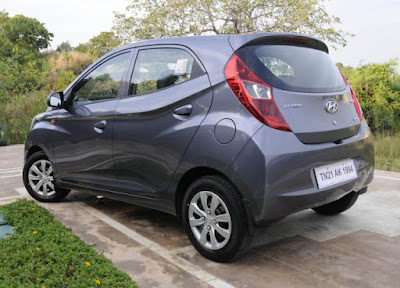 New Hyundai EON silver side view