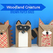 """Lines Across"": Woodland Creature Brown Paper Bags (and a Giveaway)"