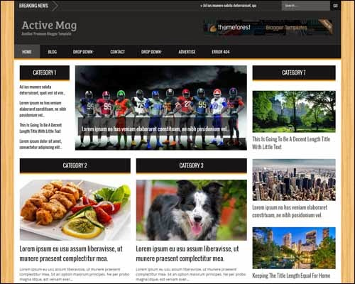 Active Mag – Responsive Blogger Template (Premium)