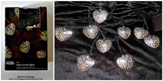 More solar smiles....pretty solar powered heart design string lights.