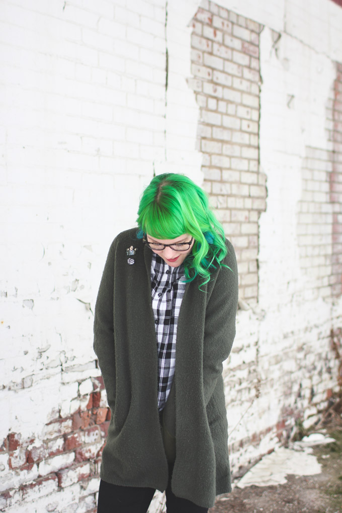 green hair, the dainty squid, cleveland blogger
