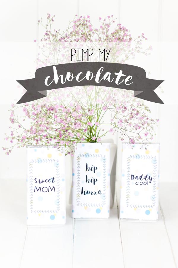Pimp my chocolate - hübsche Geschenkidee zum Muttertag oder zum Vatertag