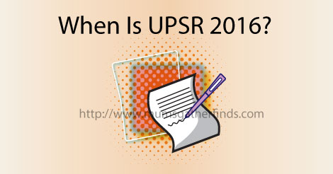 UPSR 2016 Dates Format And Where To Download Sample Exam Papers