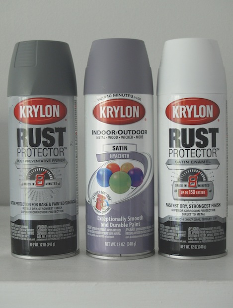 vintage locker inspired lavender cabinet tutorial Iron Oxide Primer i asked krylon to send along three cans of white satin rust protector and a can of gray rust protector primer