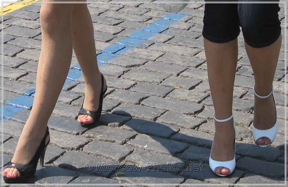 Black and white summer high heels shoes