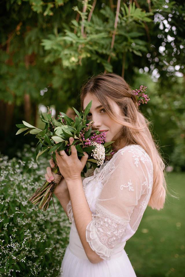 vestido novia romantico boho bohemia sencilla elegante blog bodas