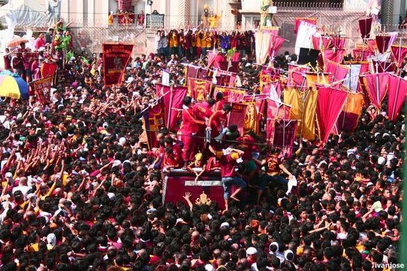 Thousands of devotees at the Black Nazarene procession during Holy Week