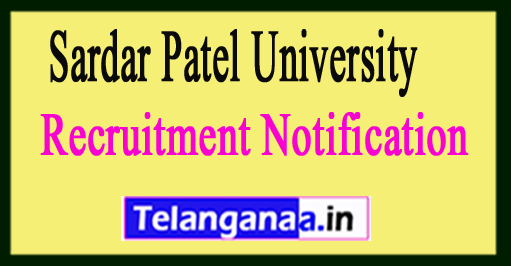 Sardar Patel University Recruitment Notification
