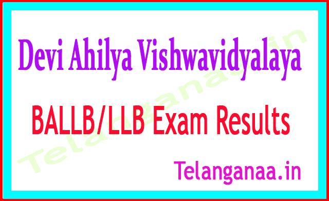 Devi Ahilya Vishwavidyalaya BALLB LLB 2018 Exam Results