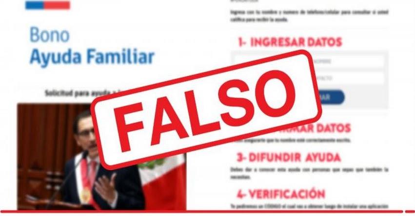 Advierten la difusión de información falsa en redes sociales sobre «Bono de Ayuda Familiar»