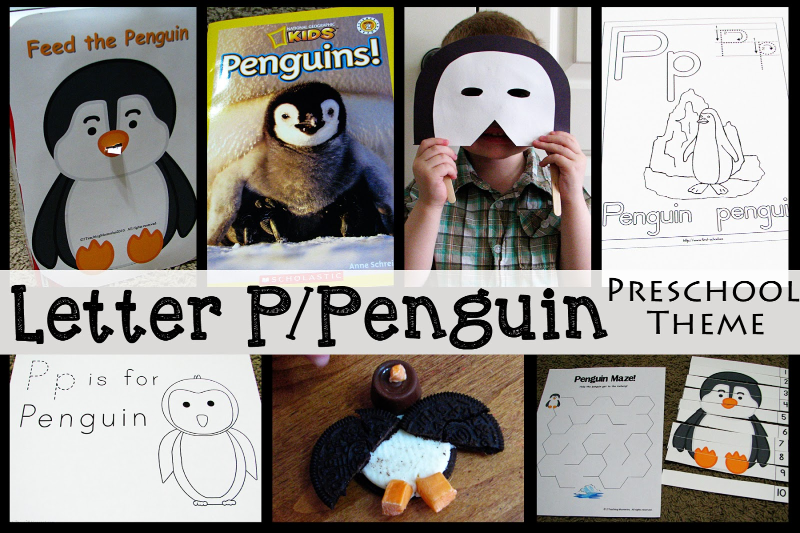 Mommy S Little Helper Letter P Penguin Preschool Theme