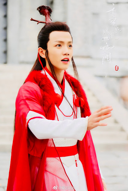Ashes of Love Xia Zhiyuan as Yue Lao (Moon Immortal)
