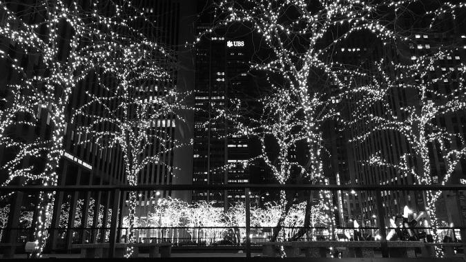 iluminación navideña en ny