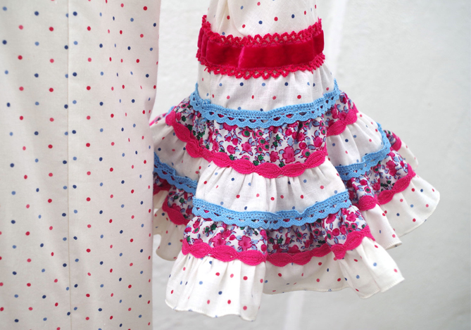 patrón sara volante canastero de traje de flamenca de niña