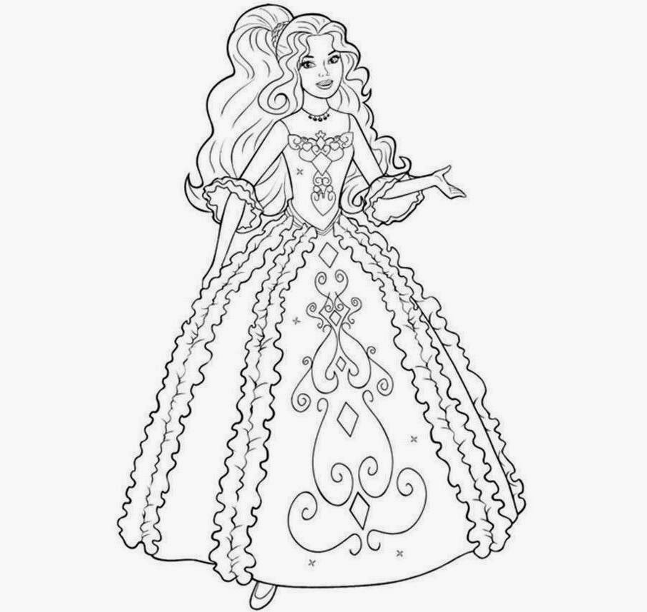 barbie coloring drawing free wallpaper anggela coloring book for