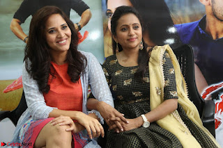 Actress Suma in Black Salwar Suit and Anusuya in orange Dress at winner movie press meet part 2 February 2017 (76).JPG