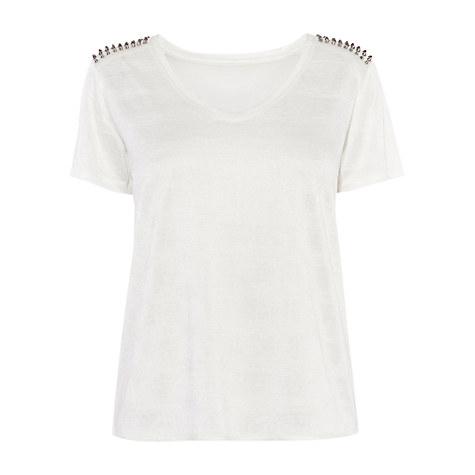 Karen Millen Texture Fabric T Shirt