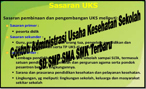 Contoh Administrasi Usaha Kesehatan Sekolah SD SMP SMA SMK Terbaru