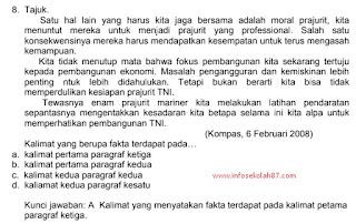 Latihan Soal Untuk Persiapan Pretes PPG Kemenag Mapel Bahasa Indonesia