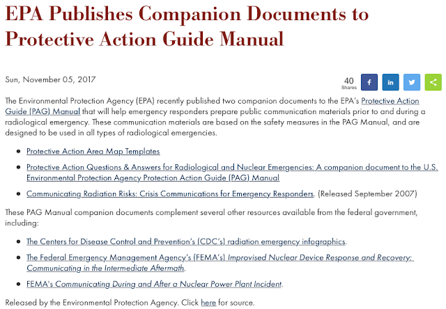 Thomas quick kimball wa8uns blog january 2018 another coincidence is that on november 5th as featured in domestic preparedness epa publishes companion documents to protective action guide manual see fandeluxe Image collections
