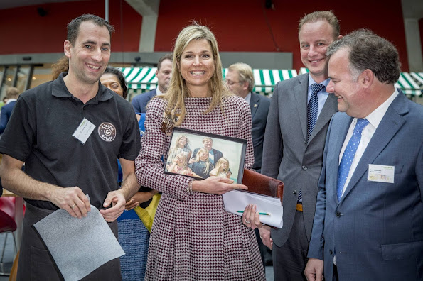 "Dutch Queen Máxima as UN Advocate for Inclusive Financial Services delivered a speech at the seminar ""Participation Money, diamond, jewelery, earrings, diamond earrings"