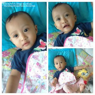gambar bayi Nor Aina behave sepanjang ketiadaan Mommy