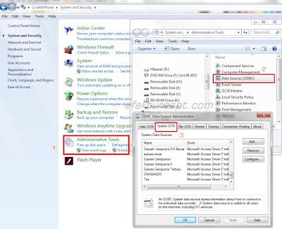 Cara Setting ODBC Menambah Database eSPT