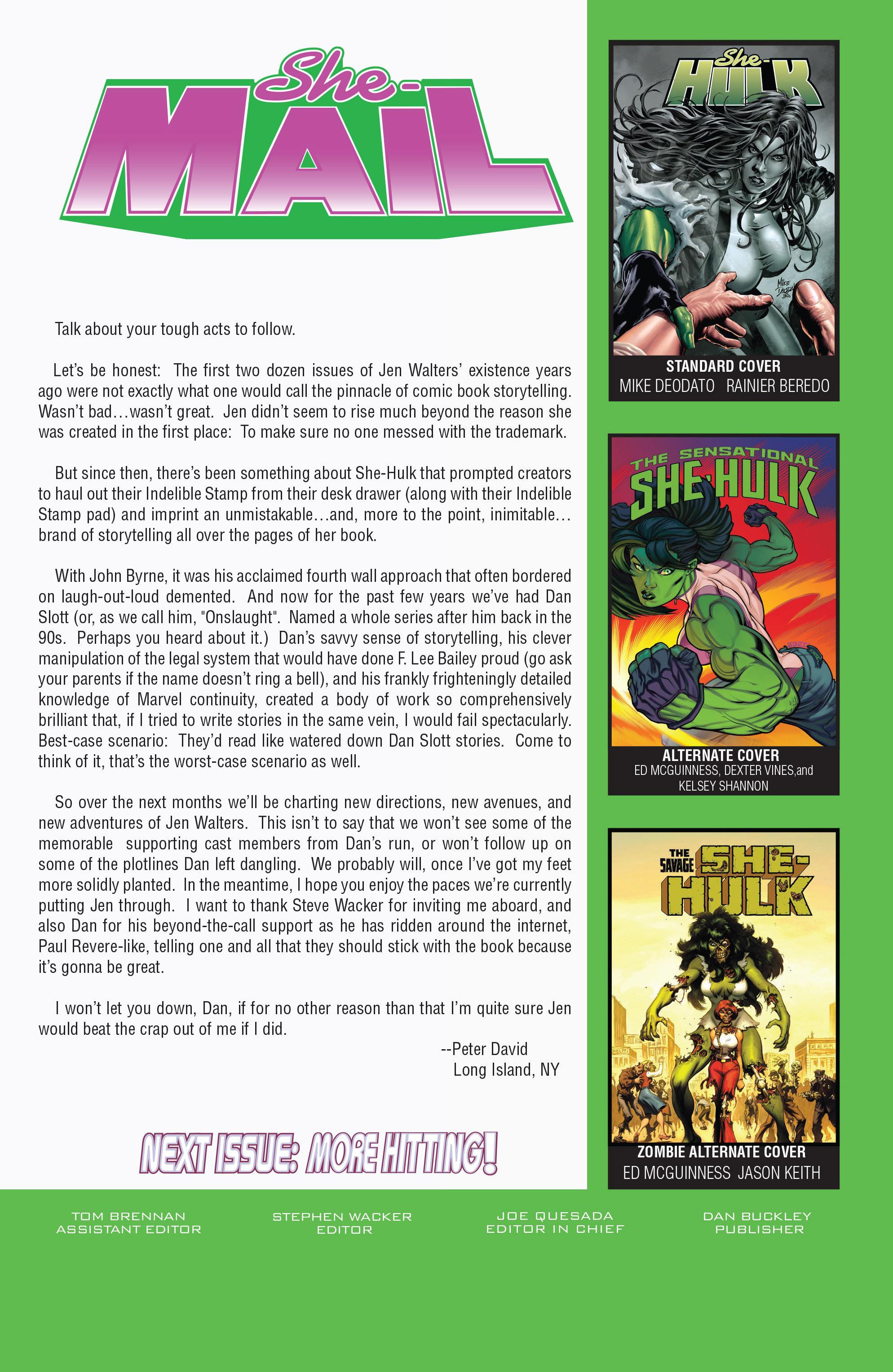 Read online She-Hulk (2005) comic -  Issue #22 - 25