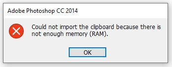 cara mudah mengatasi error photoshop cc Could Not Complete The Save  as Command Because There Is Not Enough Memory
