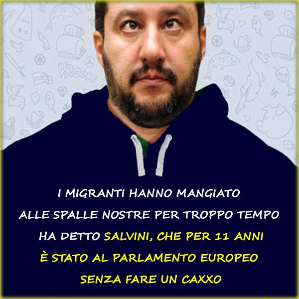 Salvini ha rubato lo stipendio al Parlamento Europeo