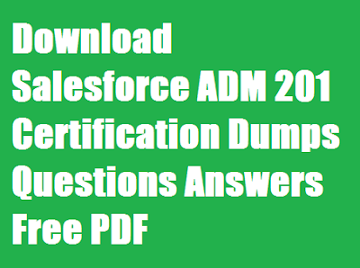 Download Salesforce ADM 201 2018 Certification Dumps Questions Answers Free PDF