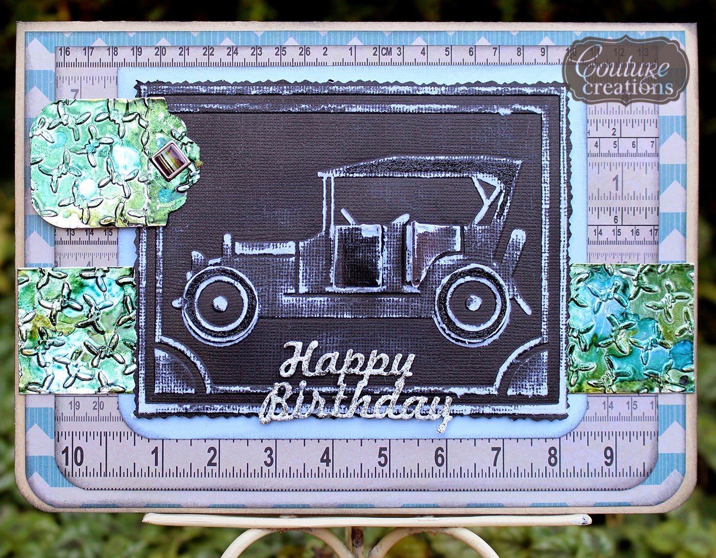 DRIVING MISS DAISY embossing folder Couture Creations Car Embossing Folders
