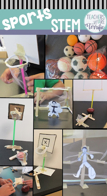 STEM Challenges that are sports related! Wow, these were great! Check this blog post for more!