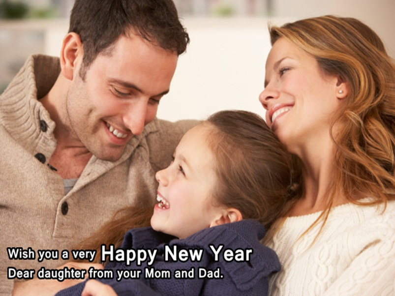 New Year Wishes Image for Daughter