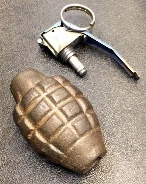 Discovered a grenade