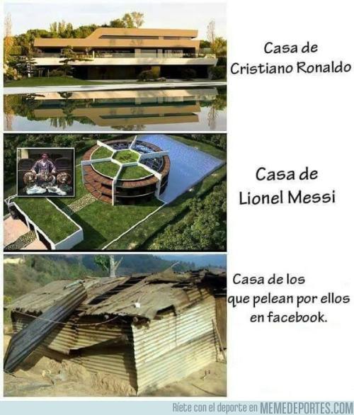 Casa de Cristiano, de Messi y de los fans