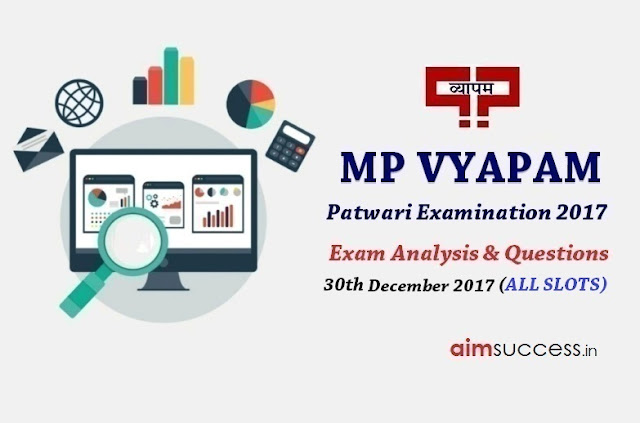 MP Patwari Exam Analysis 2017 - 30th December 2017