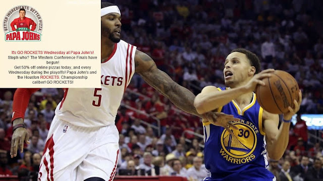 Curry se come al troll de Papa Johns