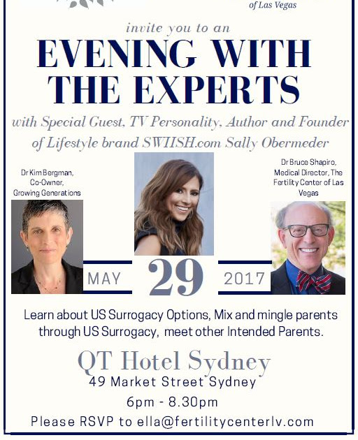 [Australia] Surrogacy - An Evening with the Experts from Growing Generations & The Fertility Center - Sydney 29 May 2017