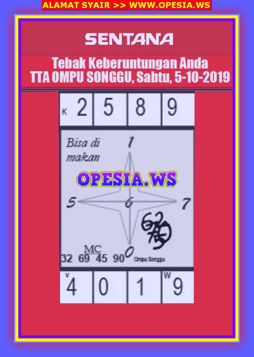 Kode Syair Singapore 5 Oktober 2019 Forum Syair Togel