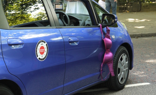 Sam Fox's bra car