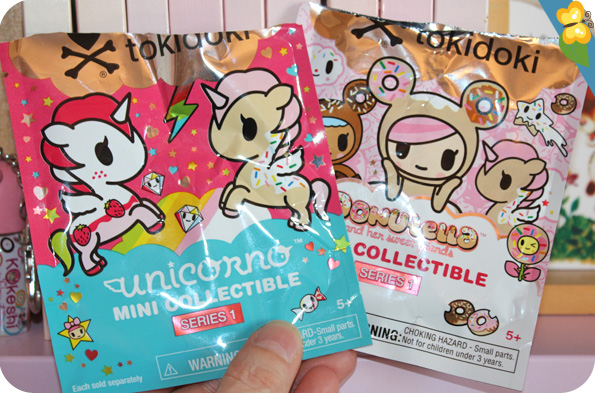 Les mini collectibles de Tokidoki : Donutella et Unicorno
