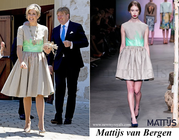 Queen Maxima wore Mattijs van Bergen Dress