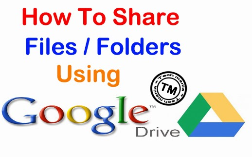 Share Files Using Google Drive