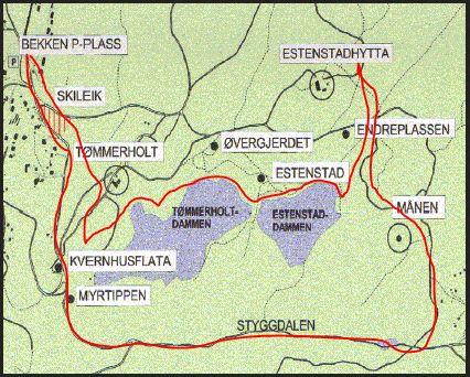kart over estenstadmarka Året rundt med RandiAa: Oktoberfest 2012   Høsten er vakker i  kart over estenstadmarka