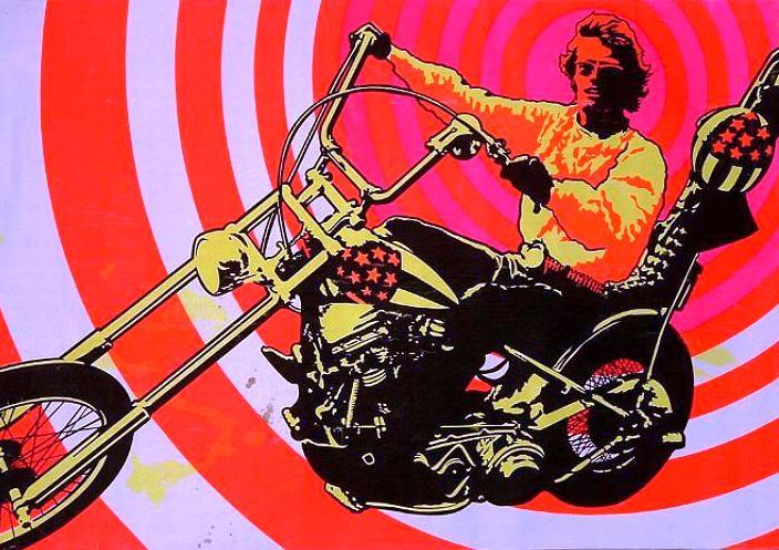 Motoblogn: Vintage Motorcycle Blacklight Poster Art