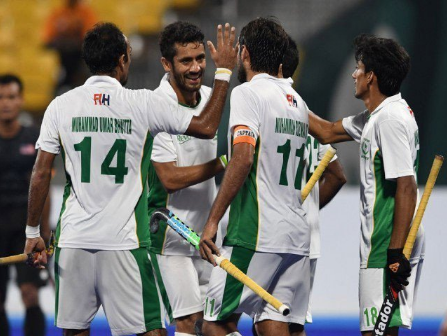 Pakistan reached the final of the  Champions Trophy Hockey Championship