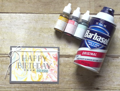 VIDEO: Shaving Cream Marbling Technique with Stampin' Up! Big on Birthdays stamp set